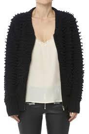 anine bing knit er jacket front cropped image