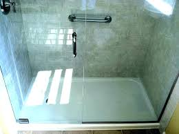 replacing shower floor tiles pan replace with tile installing and walls th