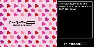 100 00 mac cosmetics gift card