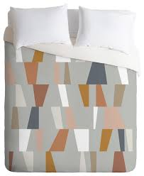 the old art studio neutral geometric 01 duvet cover set contemporary duvet covers and duvet sets by deny designs