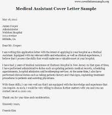 Medical Application Letter Sample Easy Medical Cover Letter Template With Medical Assistant Cover