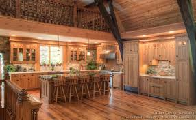 13 log home kitchen