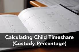 California Child Support Percentage Chart Calculating Child Timeshare Custody Percentage Cristin