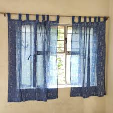 Pure Cotton Voile Indian Hand Block Printed Cotton Shower Curtain ...