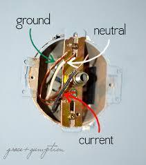 light fixture ground wire fixtures