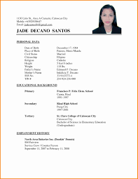 Examples Of Simple Resumes Magnificent Simple Resume Format Sample For Job Examples New Sraddme