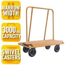 load capacity drywall cart
