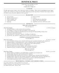 Cover Letter Doc Nanny Resume Cover Letter Sample Nanny Resume