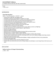 Visual Merchandiser Resume Visual Merchandiser Resume Sample Velvet Jobs 47