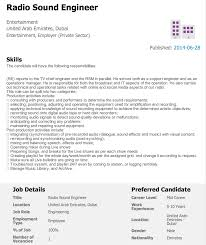 ciu assignment cv and cover letter audio sound engineer job application requirements