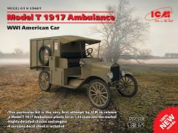 new release plastic model car kitsModel T 1917 Ambulance WWI American Car 100 new molds  ICM
