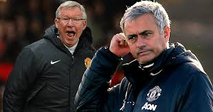 Image result for FERGUSON AND MOURINHO AT UNITED STAND