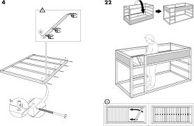 Ikea Instruction Manuals Ikea Beds Kura Reversible Bed 38x75 Pdf Assembly Instruction Free