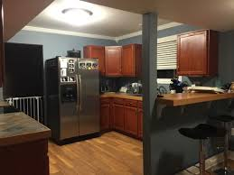 Image Dark Cabinets Houzz Kitchen Wall Paint Ideas With Cherry Cabinets