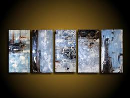 blue white black wall art