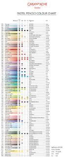 Caran D Ache Pastel Pencils Colour Chart Best Picture Of