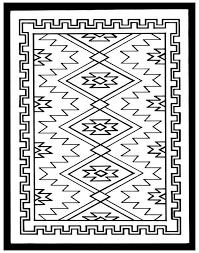 Navajo Rug Coloring Page happysalesinfo