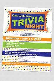 Trivia Night Flyers Trivia Family Game Night Nerd Party
