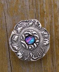 silver metal clay pmc glass pendant work