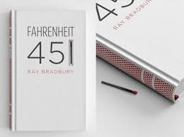 check out this striking cover design for fahrenheit 451