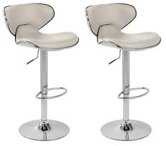 Kitchen:Unique White Contemporary Leather Kitchen Bar Stools With Steelbase  Black and White Bar Stools
