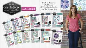 Turnstile Mini Quilt | Quiltologie - The Sewing Loft & Grab the full set of Quiltologie Mini Mania quilt kits at your local Jo-Ann Adamdwight.com