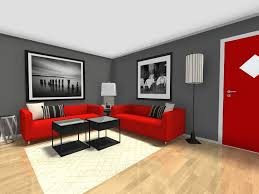 red furniture ideas. Small Room Ideas - Living Furniture Layout With Dark Grey Walls Red