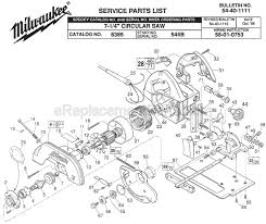 milwaukee 6365 parts list and diagram ser 546b milwaukee 6365 parts list and diagram ser 546b ereplacementparts com