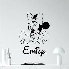 mickey mouse wall art mouse wall decal girl kids custom name mickey mouse cartoons vinyl sticker on mickey mouse metal wall art with mickey mouse wall art mouse wall decal girl kids custom name mickey