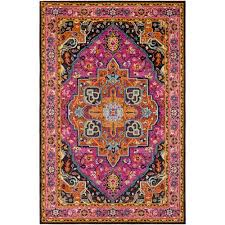 anika pink rectangular 2 ft x 3 ft rug
