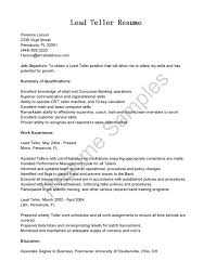 Resume Examples For Bank Teller Head Teller Resume Examples Pictures