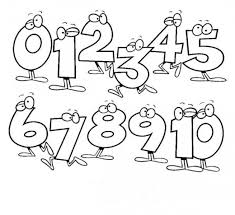 Small Picture Number Coloring Pages 1 10 Printable Pages NUMBERS Pinterest