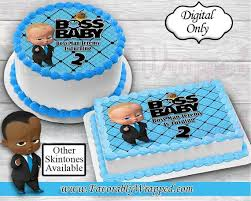 Boss Baby Cakeimage Boss Baby Party Boss Baby Birthday Edible Etsy