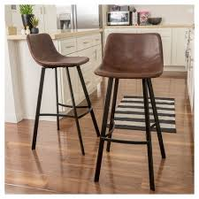 brown leather bar stools. Dax 30\ Brown Leather Bar Stools
