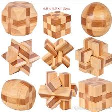 2019 classic 3d iq wooden brain teaser bamboo interlocking 3d puzzles iq brain teaser wooden interlocking game toy for infants kids from mamashengxin6