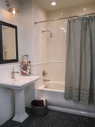 kirsty froelich ceramic tile from the tile pottery barn gray ruffle shower curtain and towels
