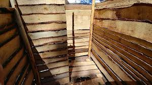 leave a small space between each of the planks to allow water to fall through and to give you some traction just don t leave the spacing so wide that you