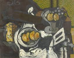 georges braque guitare assiette fruits et pichet 1925