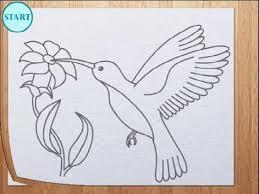 simple hummingbird drawing. Delighful Drawing How To Draw Humming Bird  Colibri On Simple Hummingbird Drawing U