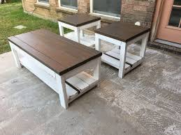 distressed white table. Top: Briarsmoke/ Legs: M Distressed White Table