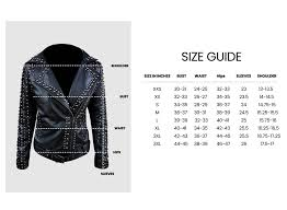 Leather Jacket Size Chart So Shway Men Women Leather Jackets Online Store Uk