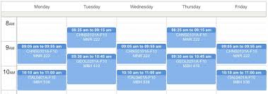 Class Planer New Course Schedule Planner Library Information Technology Services