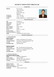 Best Cv Format Doc Professional Resume Templates
