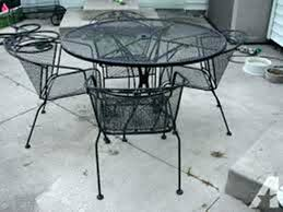 Vintage wrought iron garden furniture Woodard Rod Iron Table And Chairs Rod Iron Outdoor Furniture Dining Chairs Vintage Wrought Iron Wrought Iron Foter Rod Iron Table And Chairs Rod Iron Outdoor Furniture Dining Chairs
