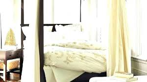Bed With Curtains Curtains For Canopy Bed Frame King Canopy Bed ...