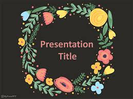 history of floral design powerpoint free floral frame powerpoint template download free powerpoint ppt