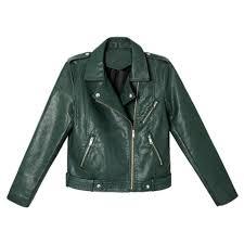 2019 2018 new autumn winter women motorcycle faux pu leather jacket lady dark green black biker outerwear streetwear hot from mapnature
