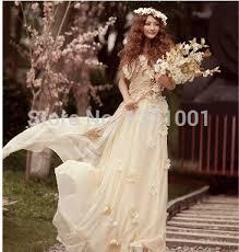 all fashionable beach style one shoulder sexy hippie wedding dress