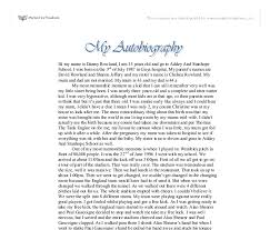 my autobiography gcse english marked by teachers com document image preview