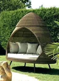 unusual outdoor furniture. Daybed Outdoor Furniture Garden Wicker Patio Canopy Daybeds With Round Unique And Unusual Brown D